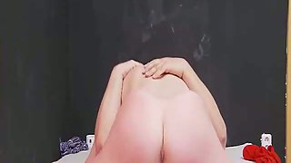 Big natural boob amateur trying anal sex hoping to make a good porno
