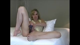 Naughty milf recording message to husband telling how worthless his cock is in comparison