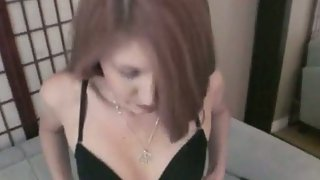 Amateur redhead sex tape filming with her boyfriend pov