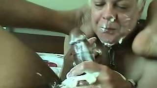 Nasty Cream Handjob By Blonde Wifey