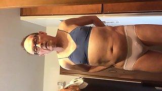 Exposed Faggot Pervert Slut Sissy Models Bra And Panty With Liner