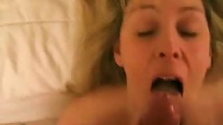 My neighbor is one hot blonde who just loves to ge cum on her face