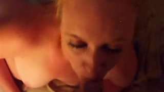 Dumping a load of sticky cum in her mouth