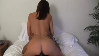 Busty fucking milf interracial sex with black stallion wanting pussy