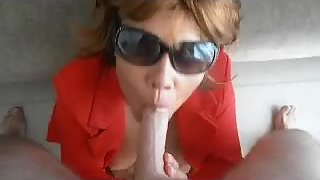 Sexy asian milf getting a large cock