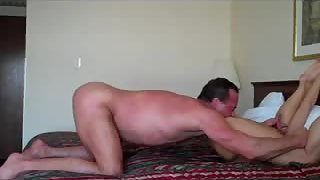 Sexy blonde milf on top of big cock