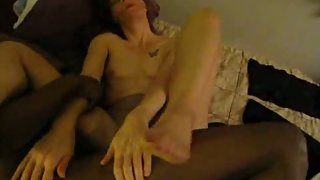 Slut wife fucked by black cock while husband records her having sex