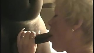 Blonde mature lady gets fucked and facialed