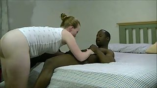 Homemade interracial her first time with a black bull cuckold