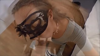 Masked slut Sarah blowjob and cumshot cumpilation